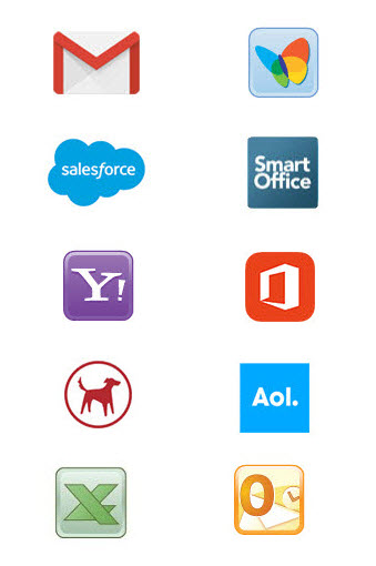 Apps and Integrations to help you grow your email list and digital presence.- redtail ,salesforce, gmail hotmail salesforce office 365